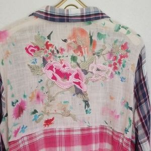 Philosophy Dress Plaid w/embroidery